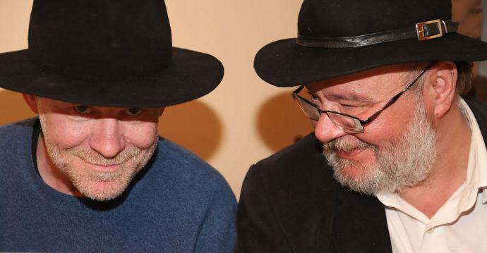 Artur Majka i Paweł Huelle, Gdańsk 22.05.2018, fot. Ewa Lipiec